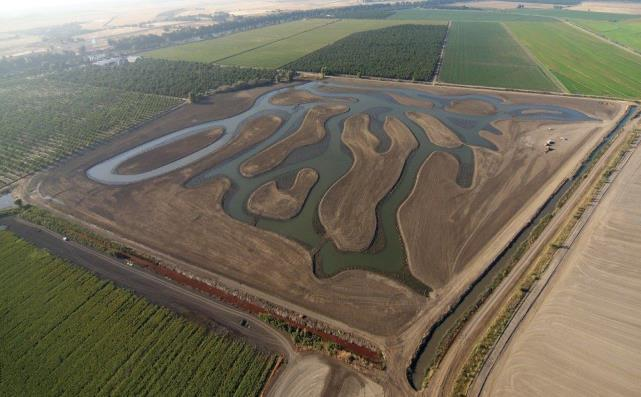 """Image of Mitigation Bank """"River Ranch Wetlands"""" just after construction in 2013."""